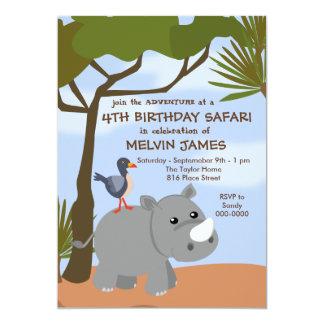 Rhino Safari Invitation
