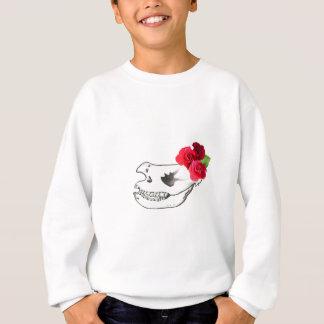 Rhino Skull with Roses Sweatshirt