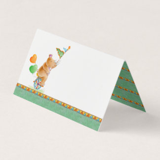 Rhino watercolor art baby shower guest place cards
