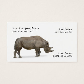 Rhino Zoologist Business Card
