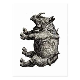 RHINOCEROS  - 1600's Image - Postcard