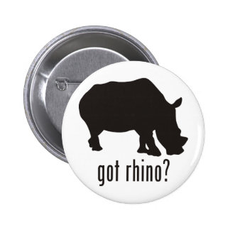 Rhinoceros 2 Inch Round Button