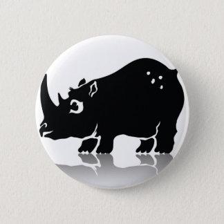 Rhinoceros 2 Inch Round Button