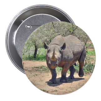 rhinoceros 3 inch round button