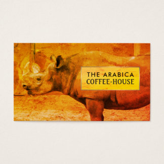 Rhinoceros, African Rhino, Coffee-house Business Card