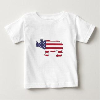 Rhinoceros - American Flag Baby T-Shirt