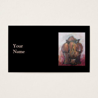 Rhinoceros. Business Card