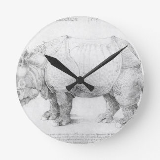 Rhinoceros by Albrecht Durer Clock