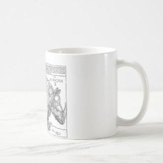 Rhinoceros by Albrecht Durer Coffee Mug