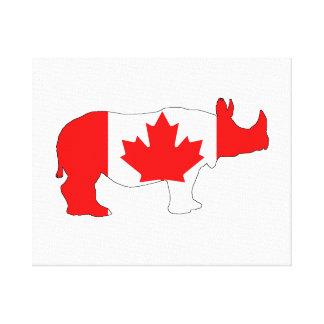 Rhinoceros Canada Canvas Print