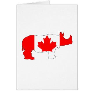Rhinoceros Canada Card