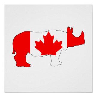 Rhinoceros Canada Perfect Poster