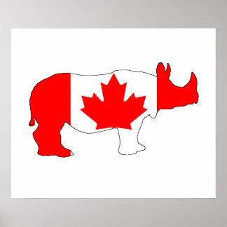 Rhinoceros Canada Poster