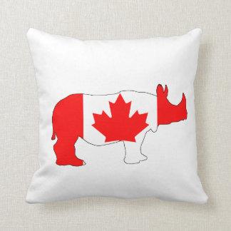 Rhinoceros Canada Throw Pillow