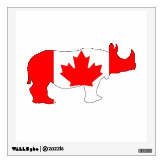 Rhinoceros Canada Wall Decal