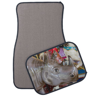 Rhinoceros Carousel Ride on Merry-Go-Round Floor Mat
