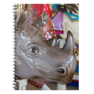 Rhinoceros Carousel Ride on Merry-Go-Round Notebook