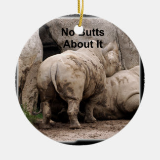 Rhinoceros Christmas Ornament