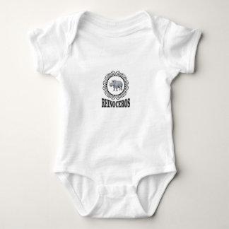 Rhinoceros in the mug baby bodysuit