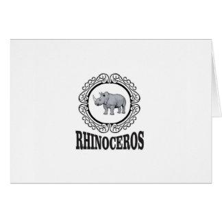 Rhinoceros in the mug card