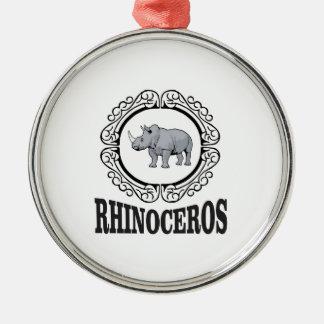 Rhinoceros in the mug metal ornament