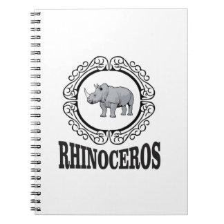 Rhinoceros in the mug notebook
