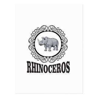 Rhinoceros in the mug postcard