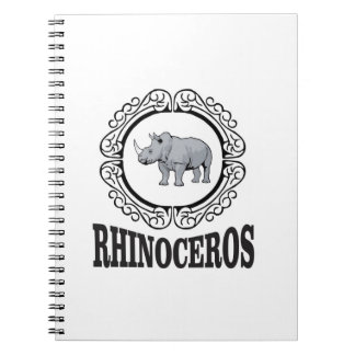 Rhinoceros in the mug spiral notebook