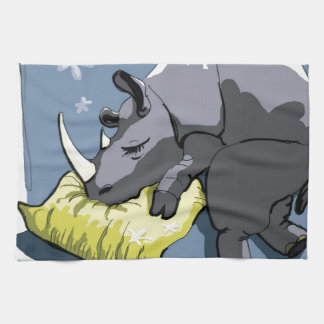 rhinoceros kitchen towel