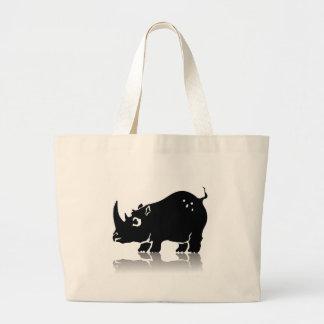 Rhinoceros Large Tote Bag