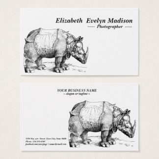 rhinoceros of dürer business card