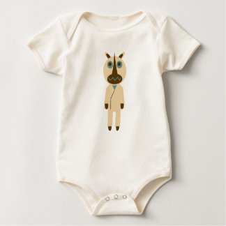 Rhinoceros of teacher generation baby bodysuit