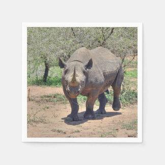 rhinoceros paper napkin