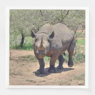 rhinoceros paper napkins