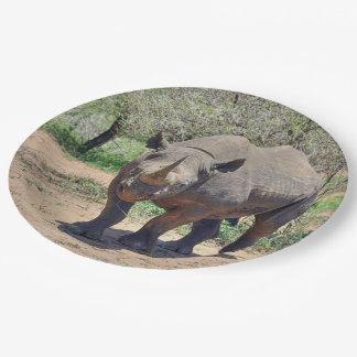 rhinoceros paper plate