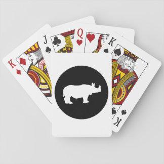 Rhinoceros Playing Cards