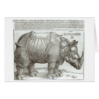 Rhinoceros, print given to Maximilian I (1459-1519 Card