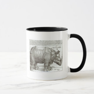 Rhinoceros, print given to Maximilian I (1459-1519 Mug