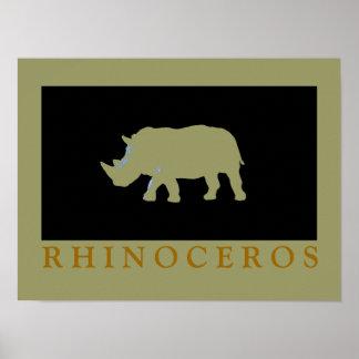 Rhinoceros printed décor idea poster