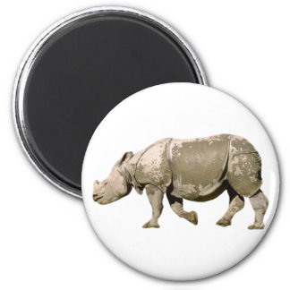 Rhinoceros Rhinoceros rhino 2 Inch Round Magnet