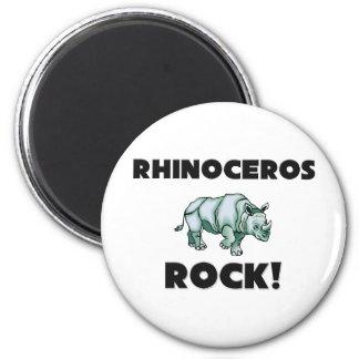 Rhinoceros Rock 2 Inch Round Magnet