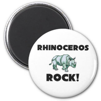 Rhinoceros Rock Magnet