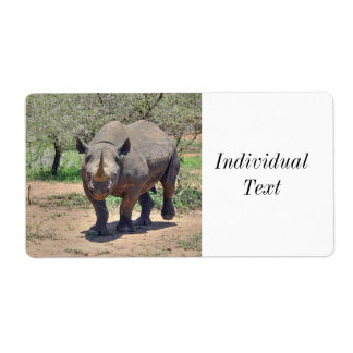 rhinoceros shipping label
