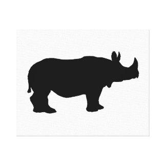 Rhinoceros silhouette canvas print