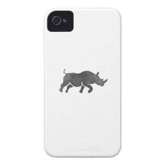 Rhinoceros Silhouette Running Watercolor Case-Mate iPhone 4 Case