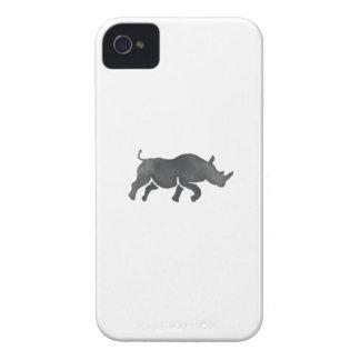 Rhinoceros Silhouette Running Watercolor iPhone 4 Case-Mate Case