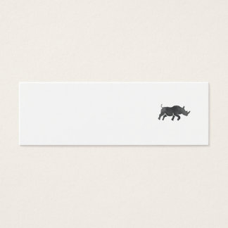 Rhinoceros Silhouette Running Watercolor Mini Business Card