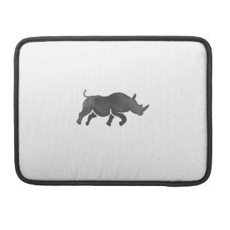 Rhinoceros Silhouette Running Watercolor Sleeve For MacBooks