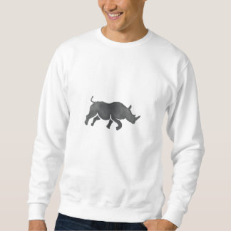 Rhinoceros Silhouette Running Watercolor Sweatshirt