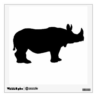 Rhinoceros silhouette wall decal